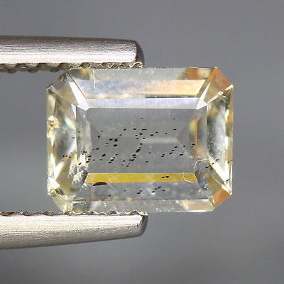 1.09 Cts_World Class Very Rare Gemstone_100 % Natural Yellow Scapolite_Brazil