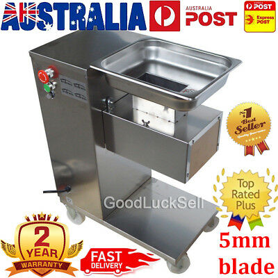 220V 500KG/H Commercial QE Meat Cutting Machine Meat Slicer Cutter w/ 5mm Blade