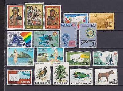 s16550) CYPRUS  MNH** 1979 Complete year sets 18v