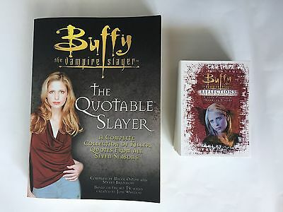 Buffy the Vampire Slayer Reflections 72 Card Base set + Quotes Book, BtVS Bundle