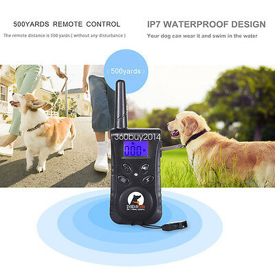 Electric Dogs Remote Control Training Collar Anti-Bark Rechargeable E-Collar