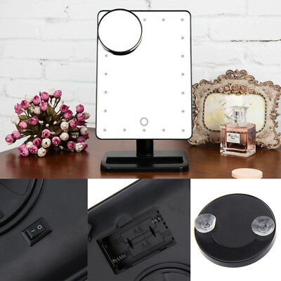 20 Led 10X Magnifying Touch Screen Light Make-Up Cosmetic Tabletop Vanity Mirror