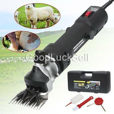 320W Electric Pet Sheep Shearing Supplies Clipper Shear Goat Alpaca Farm Black