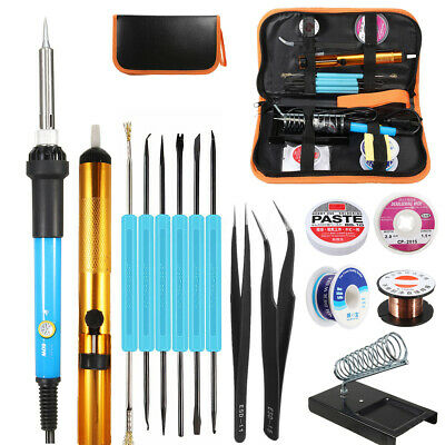 110V/220V 60W Adjustable Electric Temperature Welding Soldering Iron Tool Kit