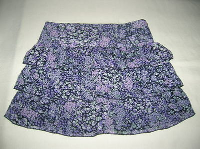 LIMITED TOO/JUSTICE Chiffon Floral Tiered Skort Skirt Size 16 Girls - EUC -