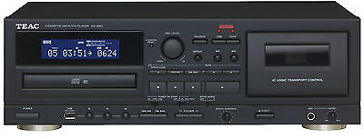 Teac AD-850 CD Player with Cassette Recorder USB Recording and Playback BLACK