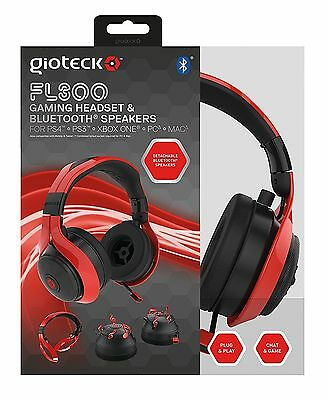 Playstation 4 Gioteck FL300 Wired Headset PS4 PS3 PC (XB1*) + Bluetooth Speakers