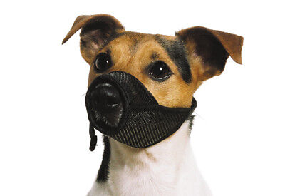 Soft Mesh Dog Muzzle Comfortable Breathable Nylon Strong Reliable Mesh Muzzle
