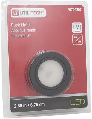 Utilitech 266 in plug in puck light 899 picclick puck light bright white integrated led line voltage plug in black plastic 1 pack mozeypictures Gallery