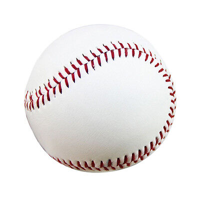 2pcs Soft baseball Professional 9-inch PVC Practice Training Baseball White E0U6
