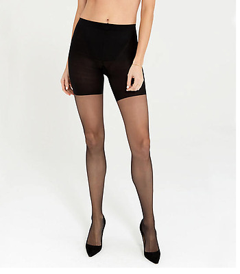 8bef24f93cc773 SPANX Women's Super Sheers Very Black Firm Control Pantyhose 3008 ...