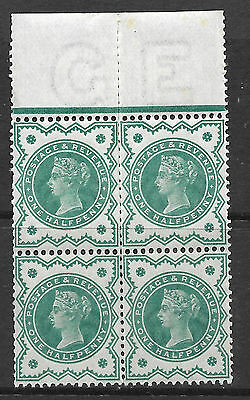 SG 213 Spec K28(1) ½d Dull Blue Green Jubilee block of 4 UNMOUNTED MINT
