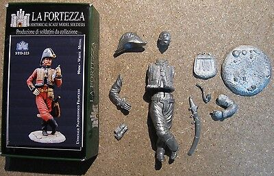 soldatini di piombo 90 mm NAPOLEONICO FRANCESE tin toy soldier white metal