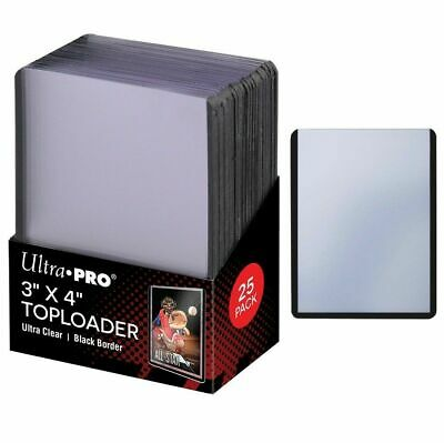 25 x Ultra Pro BLACK TOPLOADER 3x4 Rigid Card Protector Pokemon 35pt TOP LOADERS