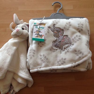 New Disney Bambi Thumper Soft Fleece Baby Blanket And Blankie Comforter, Primark