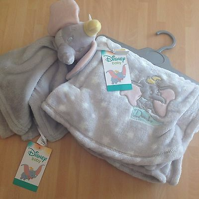 New Disney Dumbo Elephant Soft Fleece Baby Blanket & Blankie Comforter, Primark
