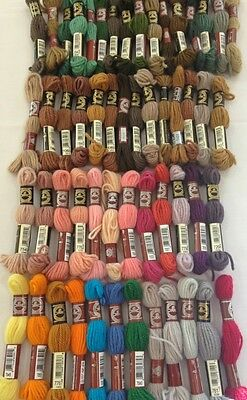 DMC Tapestry Wool - Approx 50 Skeins - Various Colours - Needlepoint