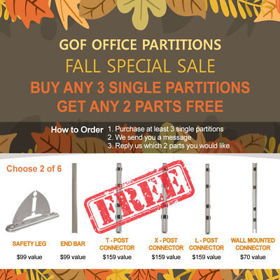 [Fall Special Sale] GOF Office Partition, Room Divider,Fabric Panel,Wall,Cubicle