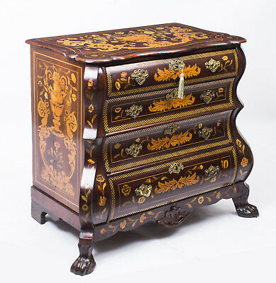 Antique Dutch Marquetry Walnut Chest of Drawers c.1780