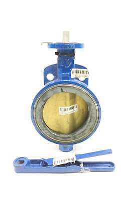New Keystone Ar1 Manual Iron Wafer Butterfly Valve 6In 150 D563070