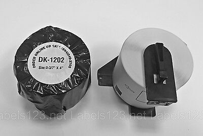 4 Rolls DK-1202 Brother QL Compatible Thermal Shipping Mailing Labels w/ 2 Frame