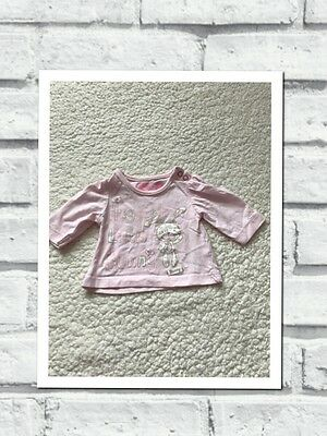 Tiny Baby Girls Clothes - Cute Pink Bunny T Shirt Top