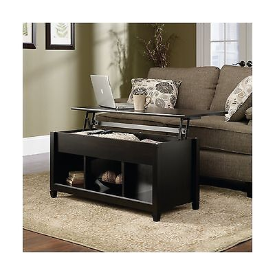 Sauder Edge Water Lift-Top Coffee Table Estate Black Finish
