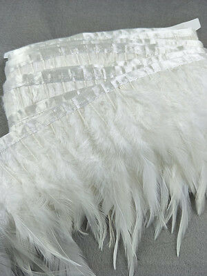 Wholesale 1m white natural turkey feathers ribbon 10-15cm/4-6inch Width diy