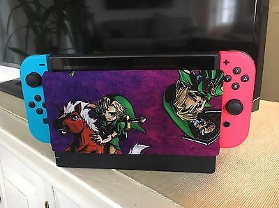 Custom Nintendo Switch Dock Cover/Dock Sock - Screen Protector Zelda Retro
