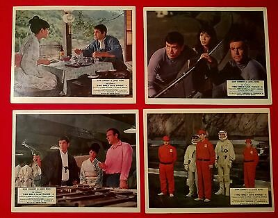 James Bond.-You Only Live Twice- Original 1967 Uk Lobby Cards X 8--10 X 8 Inches