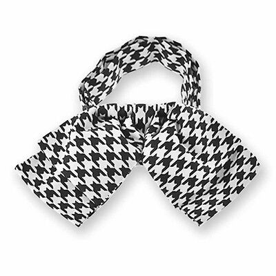 Houndstooth Floppy Bow Tie, Adjustable Band Collar, Adult Size