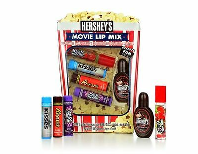 Hershey's Movie Lip Mix (2 x Lip Gloss & 3 x Lip Balm) Jolly Rancher/Kisses