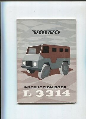 camion VOLVO L 3314   instruction book september 1965  englsih