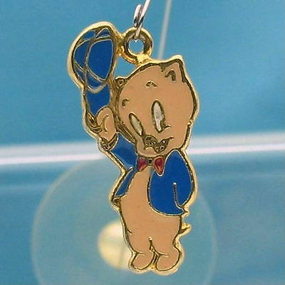 PORKY PIG Dangling DANGLER CHARM WARNER BROS Looney Tunes WB STORE GIFT 4544