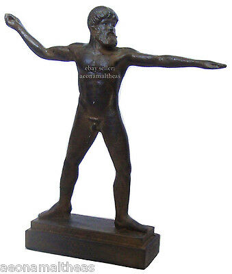 Zeus - Thunder Lighting pose - Statuette of the Supreme Greek God - 24cm