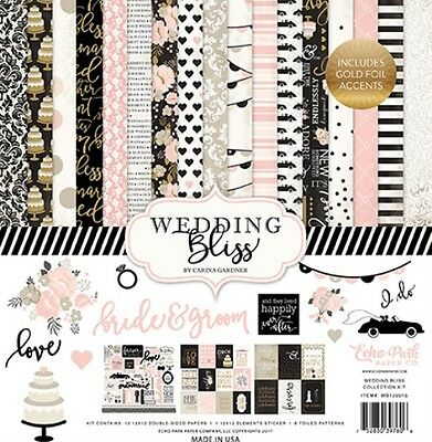 Echo Park Wedding Bliss Collection 12x12 Paper Kit