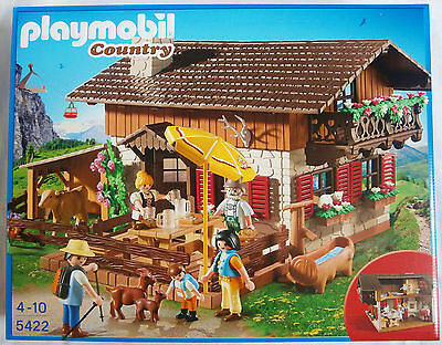 PLAYMOBIL 5422 Country Lodge NEW Alpine Mountain bavarian house pub inn goat hut