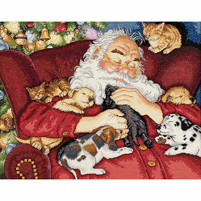 Gold Collection Santa's Nap Counted Cross Stitch Kit
