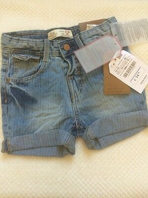 ZARA Baby Boy Smart Denim Blue Shorts 12-18 Months BNWT