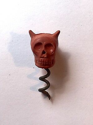 1912 Hall's Red Devil Skull Poison Bottle Indicator Corkscrew - Small Version