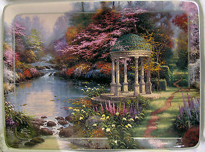 Thomas Kinkade PLATE - THE GARDEN OF PRAYER-1ST IN NATURE'S RETREATS - 1998