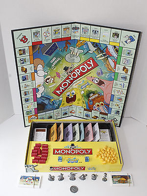 Nickelodeon Spongebob Squarepants Edition Monopoly Board Game 100% Complete