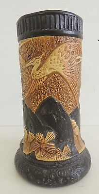 Bretby Pottery Vase with Cranes - England - Arts and Crafts - 1374 - c 1884
