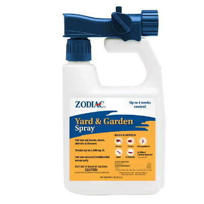 Zodiac Lawn Garden & Yard Insect Control Flea tick Mosquitoes Ants & More 32oz
