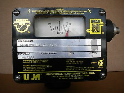 Universal Flow Monitor 0-10 GPM Meter Scale