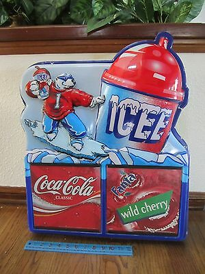 Vintage Giant ICEE Store Display Light Advertising Sign Slushie Drink Polar Bear