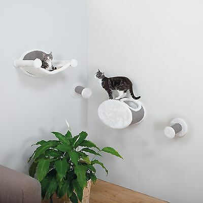 Trixie Sisal Wall-Mounted Cat Lounging and Scratcher Set