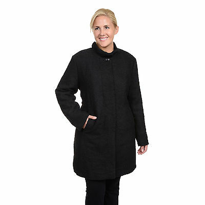 Excelled Women's Plus Boucle Wool 3/4 Coat