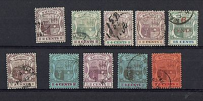 "Collection of Mauritius stamps  ""Coat of Arms"" 1895 - 1904"