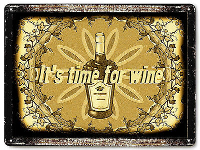 Wine METAL sign vintage style bar restaurant wine cellar Wall decor art  559